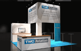 20 x 20 Aviation Peninsula Exhibit Rental A 1