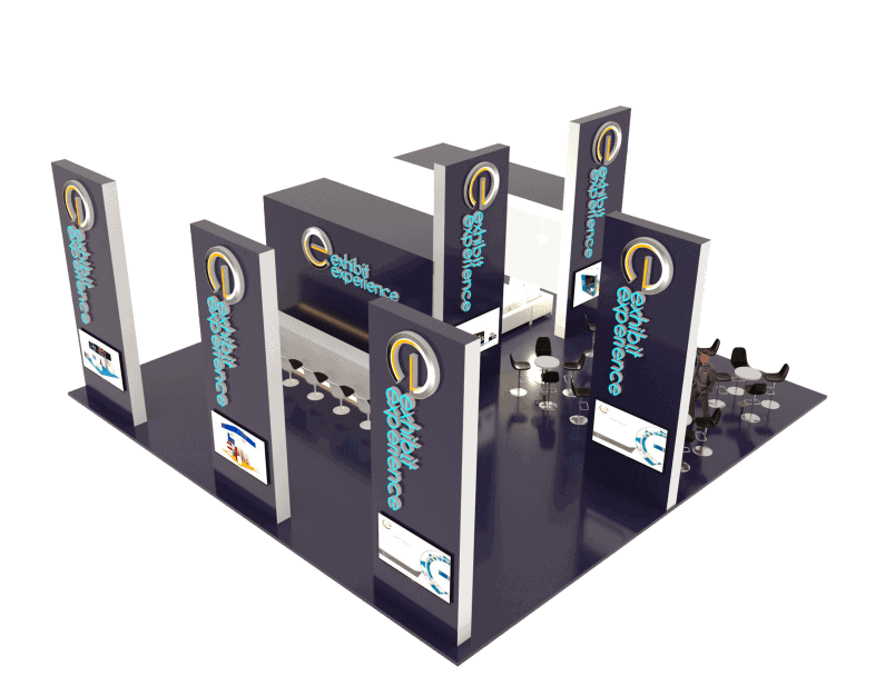 40 x 40 Trade Show Booth Rental 2