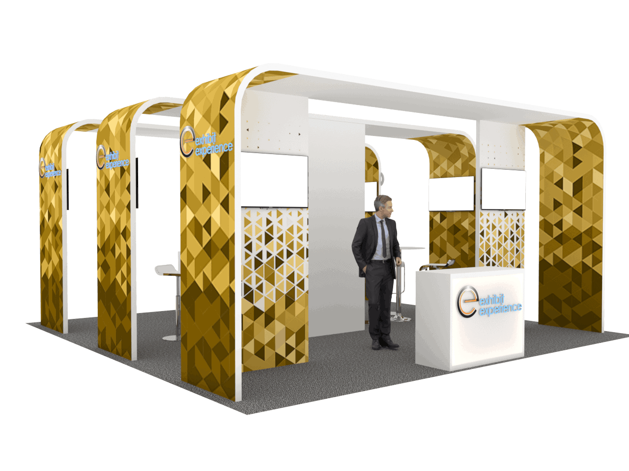 20 x 20 Local Trade Show Booth Rental