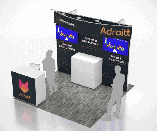 10 x 10 Trade Show Exhibit Rental