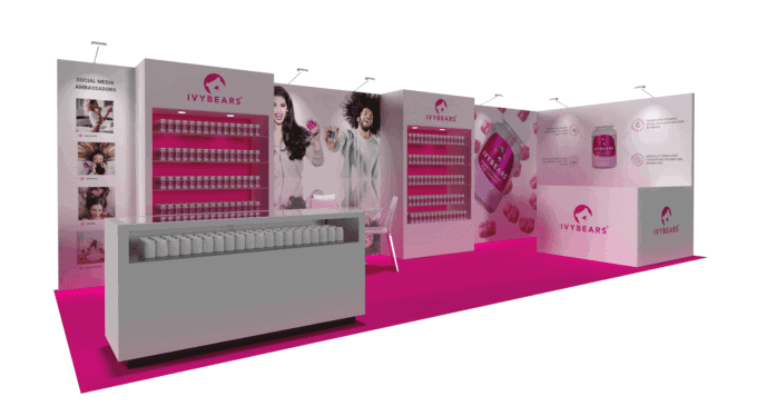 10 x 30 Supply Side West Exhibit Rental 2